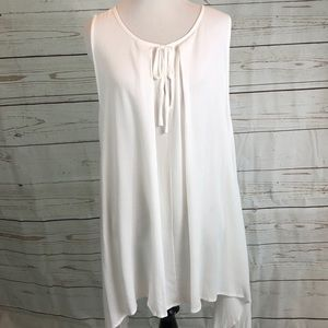 Trapeze Style Tank Top in White Tie Detail NWOT M